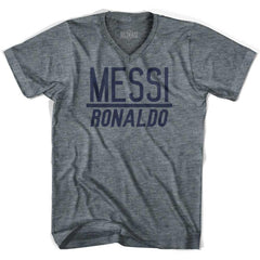 Ultras Messi Over Ronaldo V-neck T-shirt by Ultras
