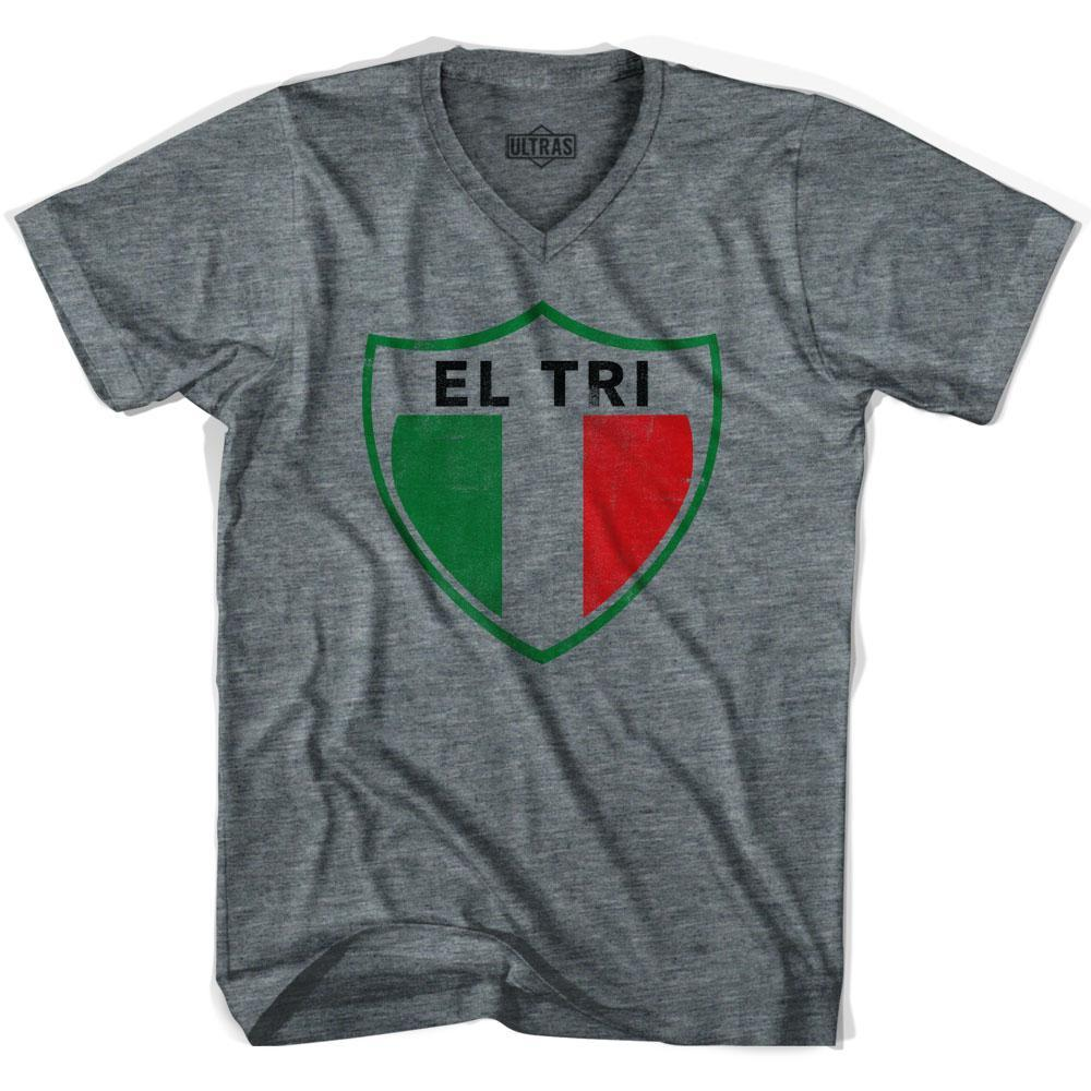 Ultras Mexico El Tri Crest Soccer V-neck T-shirt by Ultras