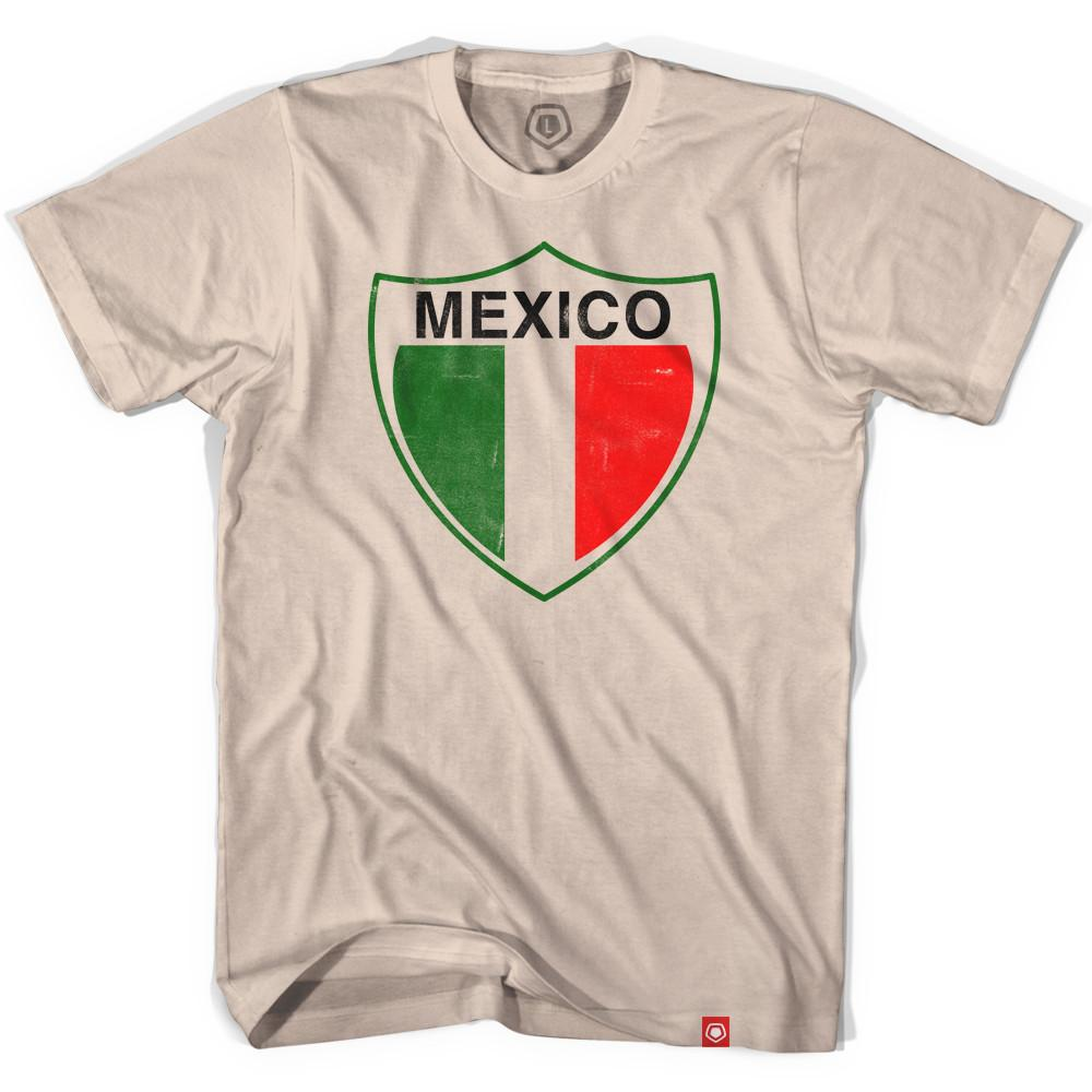 Mexico Vintage Crest Soccer T-shirt in Creme by Ultras