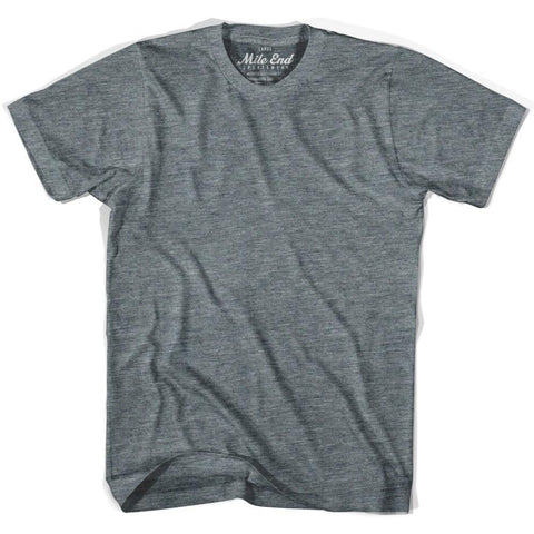 Mile End Athletic Grey Blank T-shirt-Adult