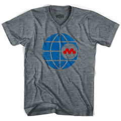 Ultras Montreal Olympique NASL V-neck T-shirt in Athletic Grey by Ultras
