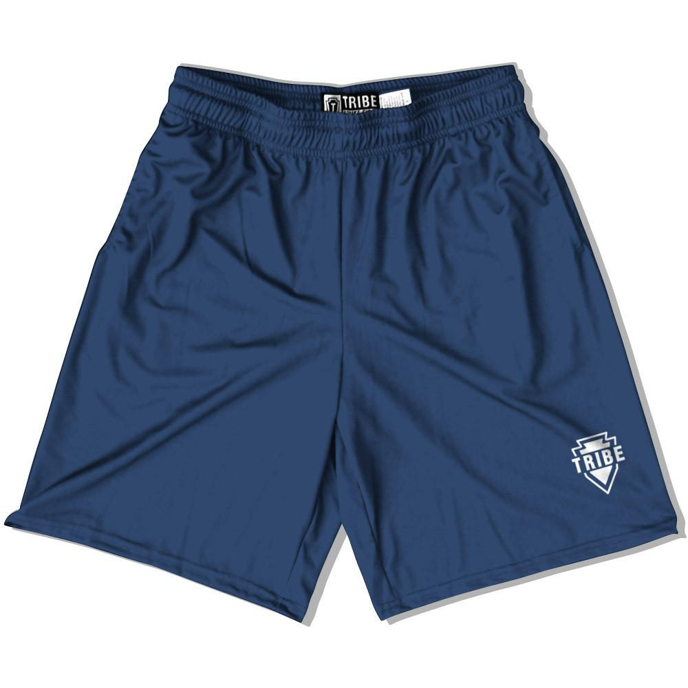 Navy Battle Lacrosse Shorts in Navy by Tribe Lacrosse