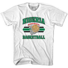 Nigeria 90's Basketball T-shirts in Grey Heather by Billy Hoyle