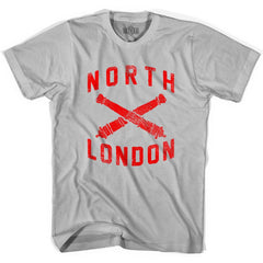 Ultras North London Crossed Cannons Ultras Soccer T-shirt in Cool Grey by Ultras