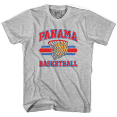 Panama 90's Basketball T-shirts in Grey Heather by Billy Hoyle