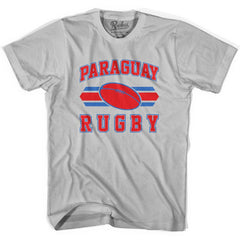 Paraguay 90's Rugby Ball T-shirt in White by Ruckus Rugby
