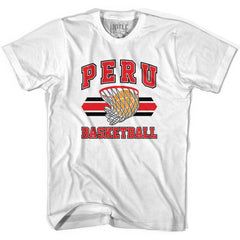 Peru 90's Basketball T-shirts in Grey Heather by Billy Hoyle