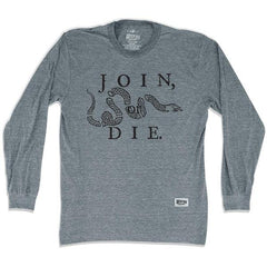 Philadelphia Join or Die Soccer Long Sleeve T-shirt in Athletic Grey by Ultras