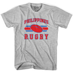 Philippines 90's Rugby Ball T-shirt in White by Ruckus Rugby
