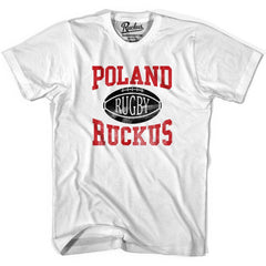 Poland Ruckus Rugby T-shirt in Cool Grey by Ruckus Rugby