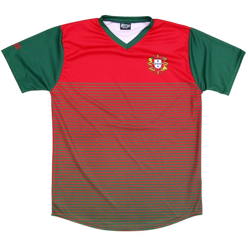 Portugal Rise Soccer Jersey in Red by Ultras