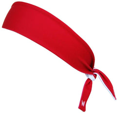 Red & White Reversible Elastic Tie 2.25 Inch Headband in  by Wicked Headbands