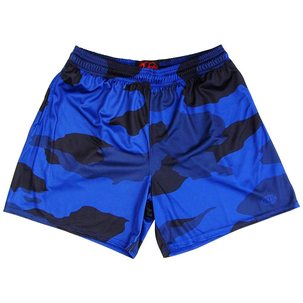 Navy Camo Rugby Shorts in Camo by Ruckus Rugby