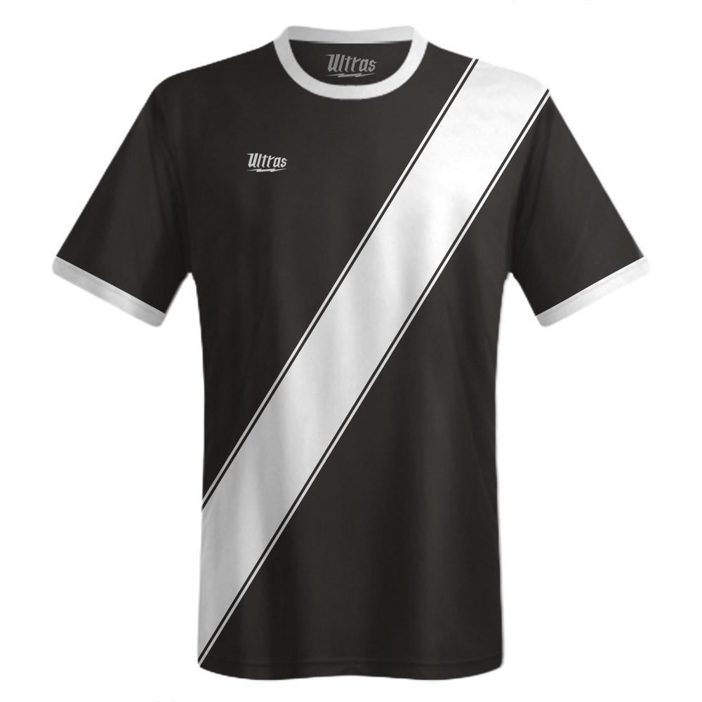 Ultras Custom Sash Team Soccer Jersey in Black/White by Ultras