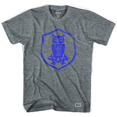 Sheffield Wednesday Owl Crest Soccer T-shirt in Athletic Grey by Ultras