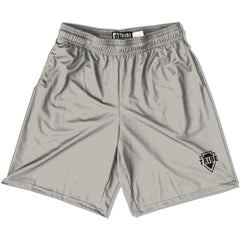 Tribe Silver Lacrosse Shorts in Silver by Tribe Lacrosse