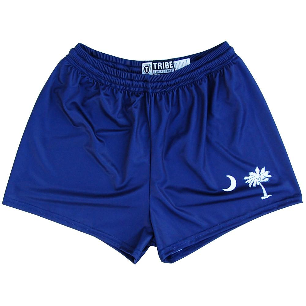 South Carolina Flag Womens & Girls Sport Shorts by Mile End in Navy by Mile End Sportswear