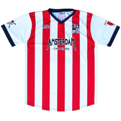 St. Louis American Outlaws Soccer Jersey - Red and White / Youth X-Small / No - Ultras Soccer Collaborations