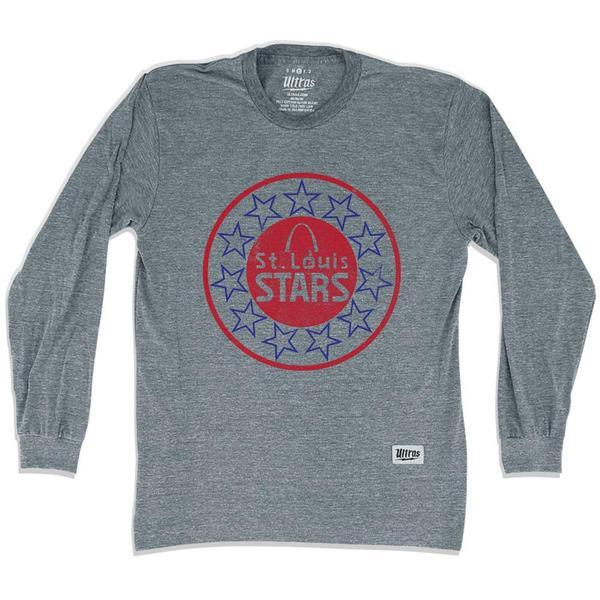 St. Louis Stars Soccer Long Sleeve T-shirt in Athletic Grey by Ultras