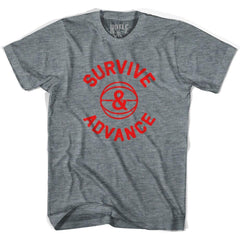 Survive and advance basketball t-shirt in Athletic Grey by Billy Hoyle