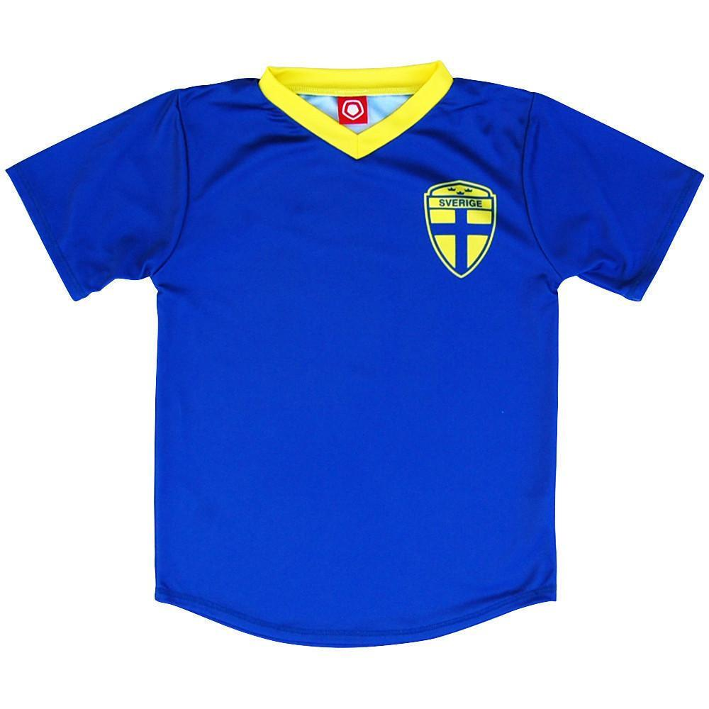 Sweden #10 Retro Soccer Jersey in Royal by Ultras