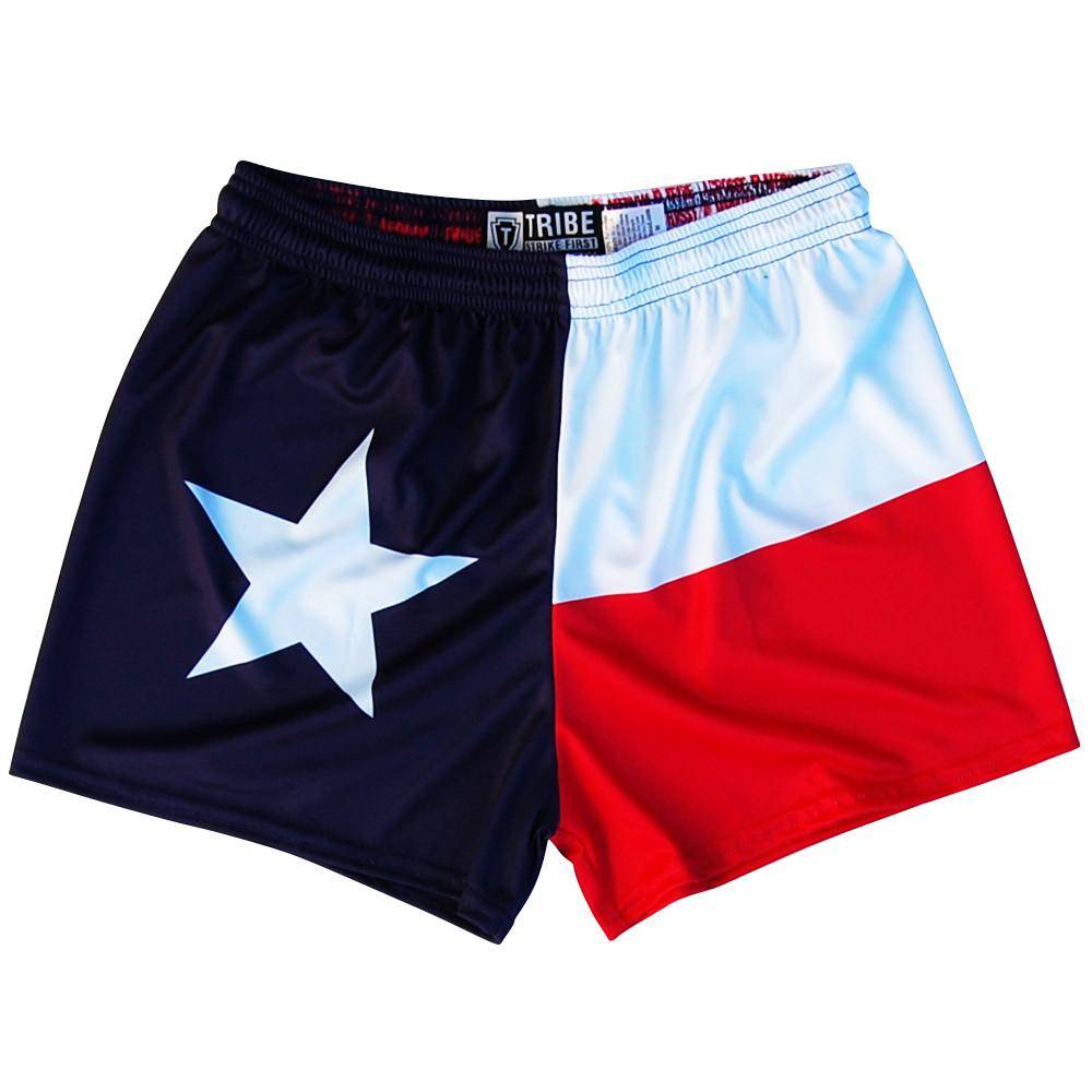 Texas Flag Womens & Girls Sport Shorts by Mile End in Navy by Mile End Sportswear