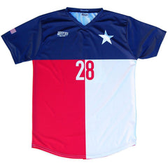 Texas State Cup Soccer Jersey in Navy, White, Red by Ultras