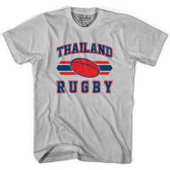 Thailand 90's Rugby Ball T-shirt in White by Ruckus Rugby