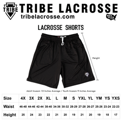 Red and White Checkerboard Lacrosse Shorts