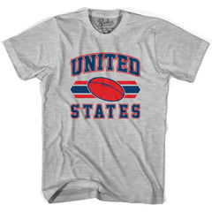 United States 90's Rugby Ball T-shirt in White by Ruckus Rugby