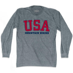 USA Mountain Biking Ultras Long Sleeve T-shirt by Ultras
