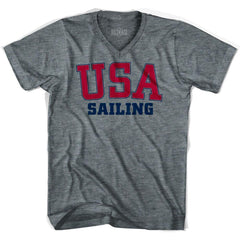 USA Sailing Ultras V-neck T-shirt by Ultras