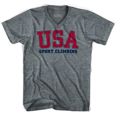USA Sport climbing Ultras V-neck T-shirt by Ultras