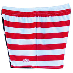 American Flag Jacks Rugby Game Shorts in Red White and Blue by Ruckus Rugby