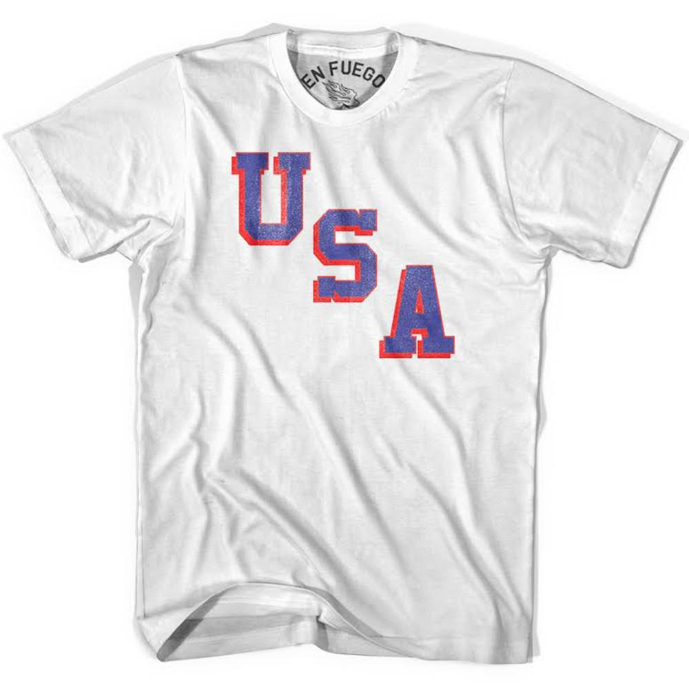 USA Miracle T-shirt, White in White by Billy Hoyle