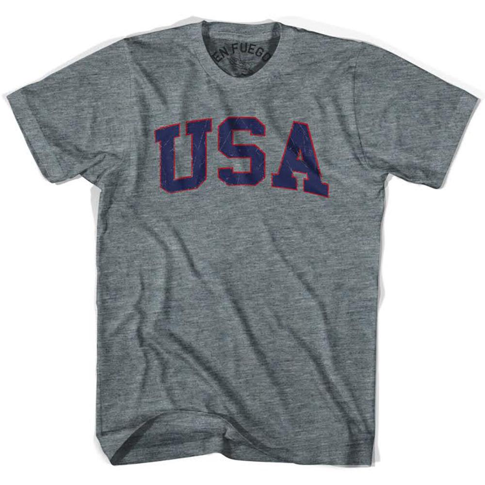 USA Vintage T-shirt in Athletic Grey by Billy Hoyle