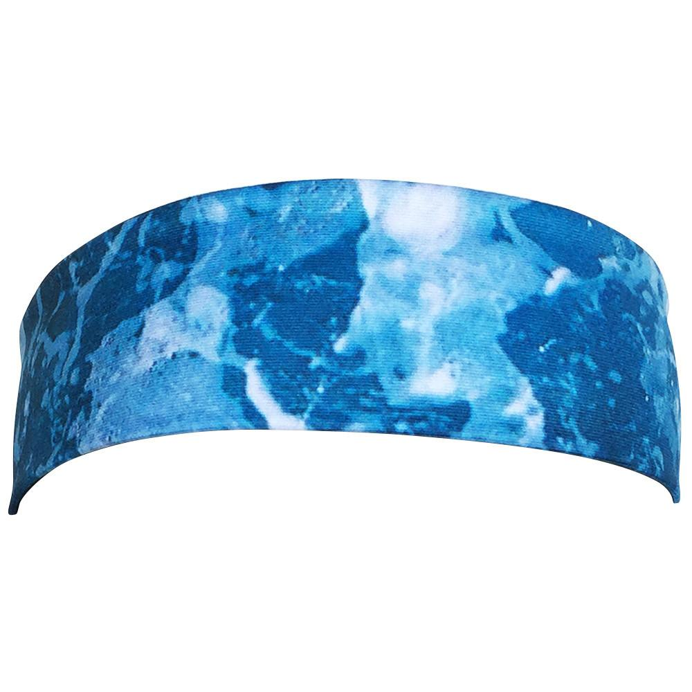Waves Elastic Tie Headband in Blue by Wicked Headbands