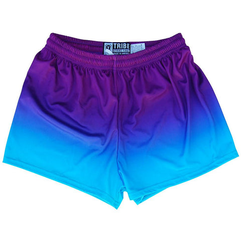 Cyan and Purple Ombre Womens & Girls Sport Shorts by Mile End