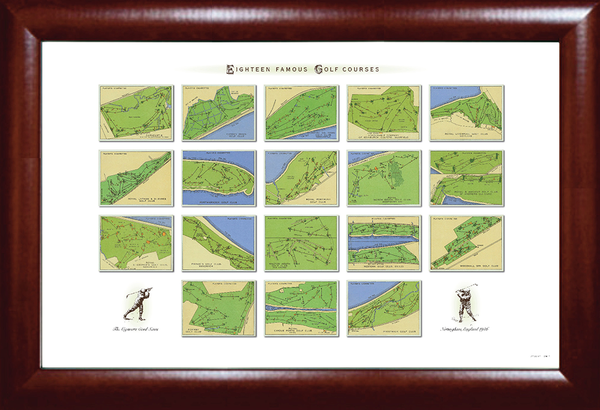 Eighteen Famous Courses Golf Print
