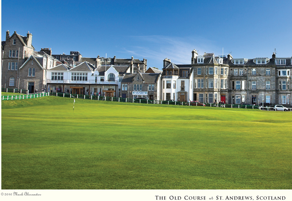 St. Andrews & The Old Course Golf Print