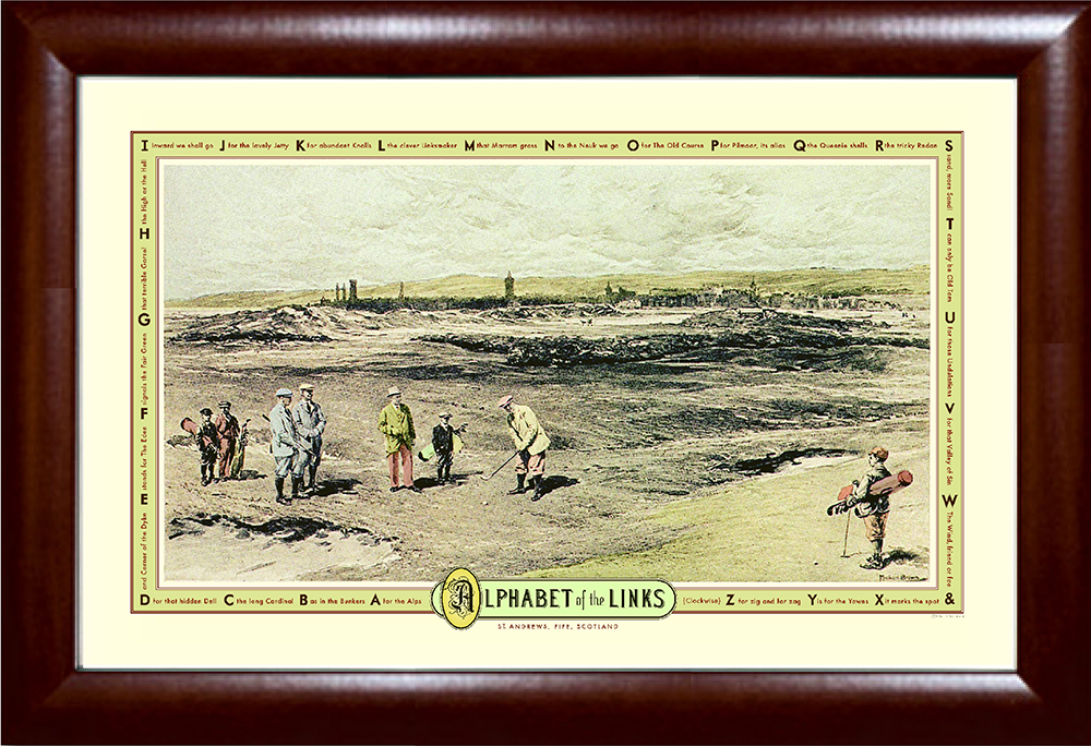 Alphabet of the Links Golf Print
