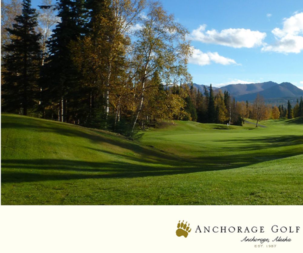Anchorage Hole No. 9 Color Golf Print