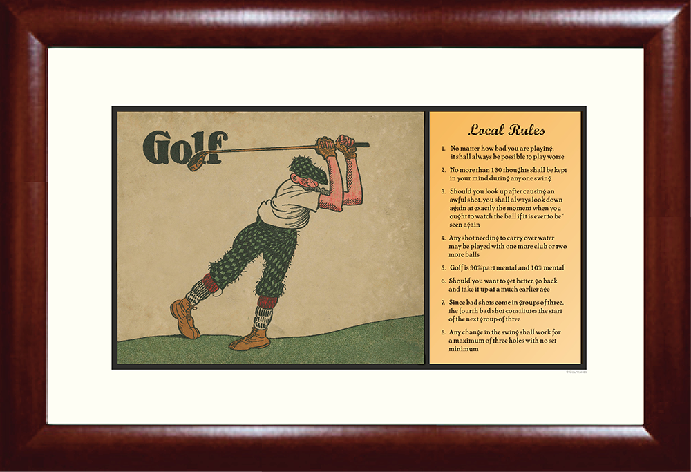 Local Rules Golf Print