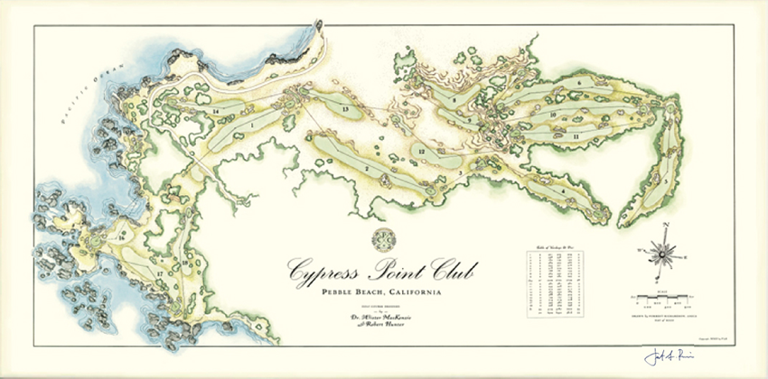 Cypress Point Golf Print