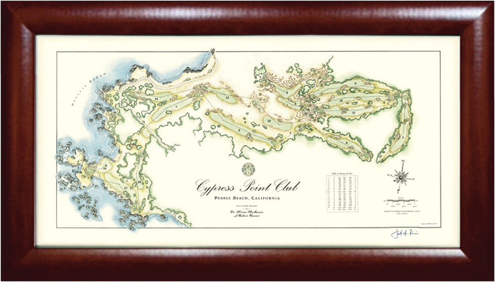 Cypress Point Golf Print - Golf Frames - golframes.com