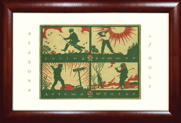 Seasons of Golf Print