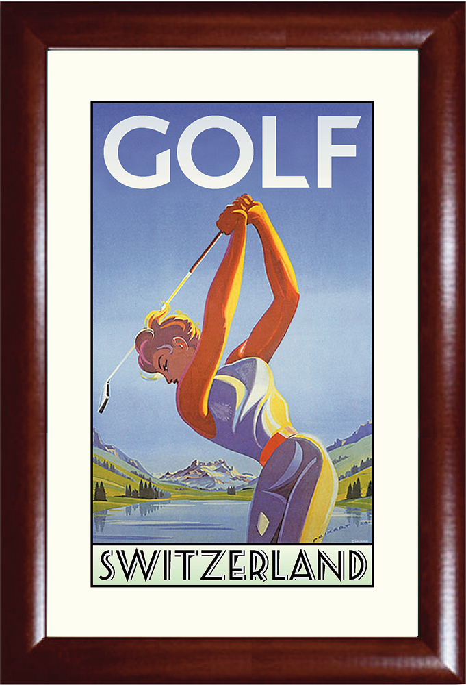 Golf Switzerland Print