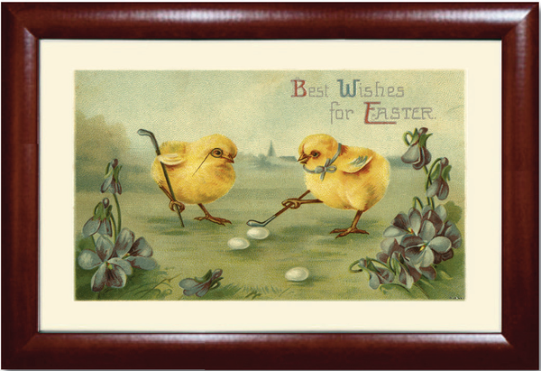 Best Wishes for Easter Golf Print