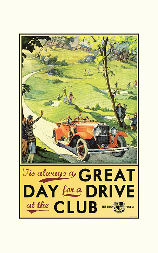 'Tis Always a Great Day for a Drive Golf Print