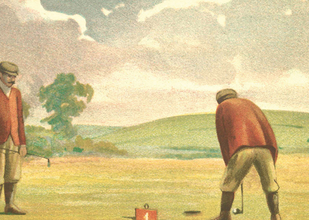 On the Green Golf Print